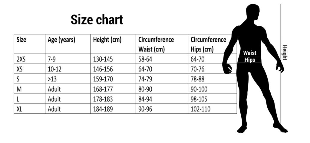 Lupos goalkeeper pants size chart