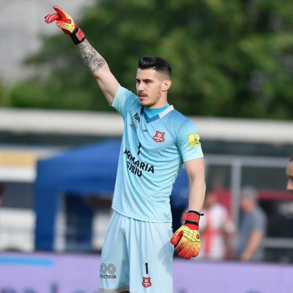 Manusi portar Lupos Ultra Catalin Cabuz FC Hermannstadt Sibiu
